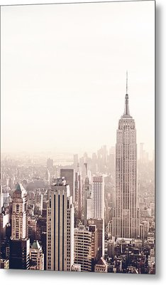 New York City - Empire State Building Metal Print by Vivienne Gucwa