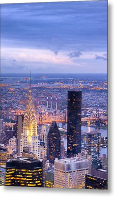 New York City Evening Metal Print by Mark E Tisdale