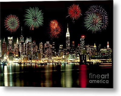 New York City Fourth Of July Metal Print by Anthony Sacco