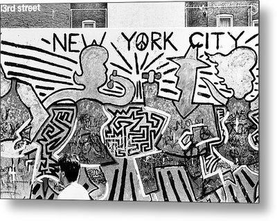 New York City Graffiti Metal Print by Dave Beckerman