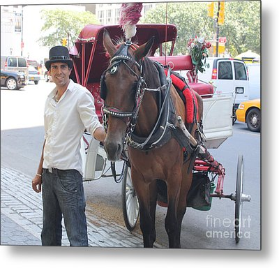 New York City Horse And Carriage Metal Print by John Telfer