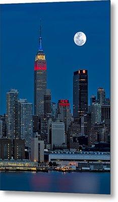 New York City Moonrise  Metal Print by Susan Candelario