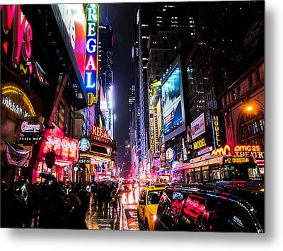 New York City Night Metal Print