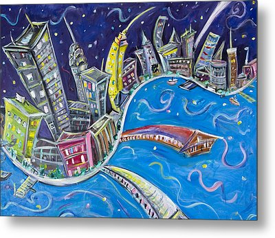 New York City Nights Metal Print by Jason Gluskin