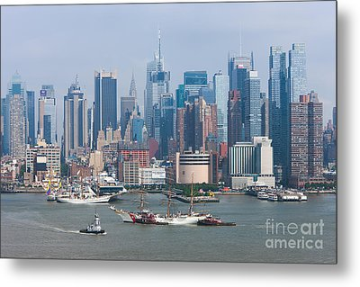 New York City Parade Of Sail I Metal Print by Clarence Holmes