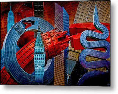 Metal Print featuring the photograph New York City Park Avenue Sculptures Reimagined by Chris Lord