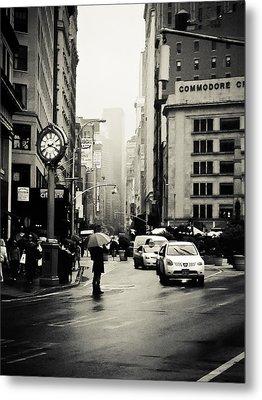 New York City - Rain - 5th Avenue Metal Print