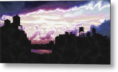 New York City Rooftops Metal Print by Tony Rubino