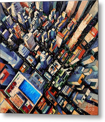 New York City Sky View Metal Print by Mona Edulesco