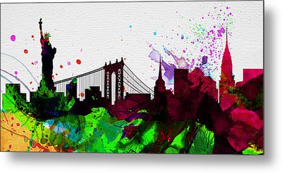 New York City Skyline 2 Metal Print by Naxart Studio