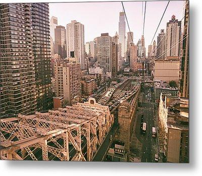 New York City Skyline - Above The City Metal Print by Vivienne Gucwa