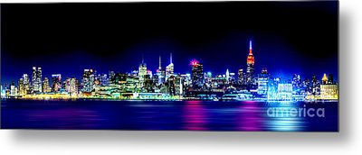New York City Skyline Metal Print by Az Jackson