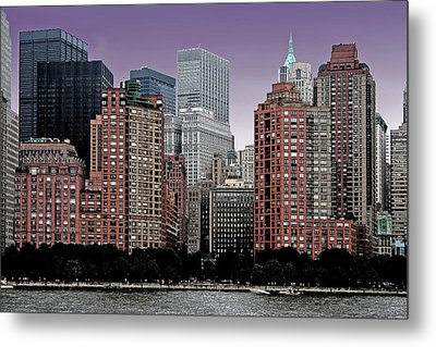 Metal Print featuring the photograph New York City Skyline Image by Christopher McKenzie