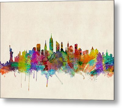 New York City Skyline Metal Print by Michael Tompsett
