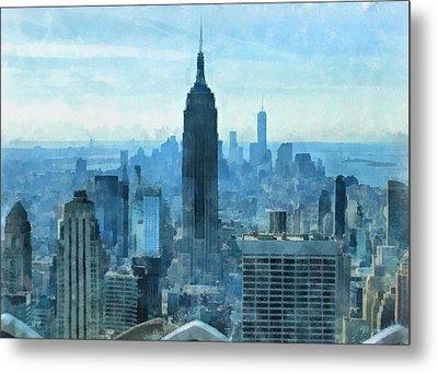 New York City Skyline Summer Day Metal Print by Dan Sproul
