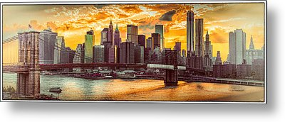 New York City Summer Panorama Metal Print by Chris Lord