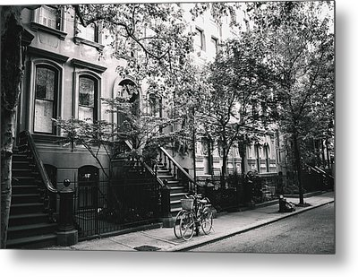 New York City - Summer - West Village Street Metal Print by Vivienne Gucwa