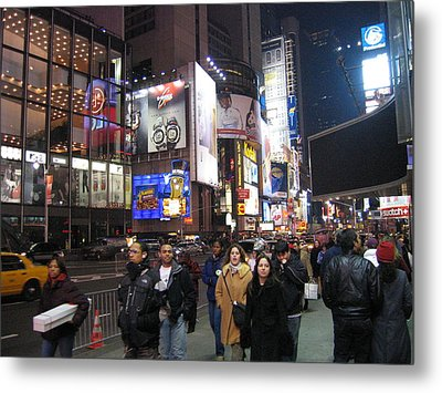 New York City - Times Square - 121214 Metal Print by DC Photographer