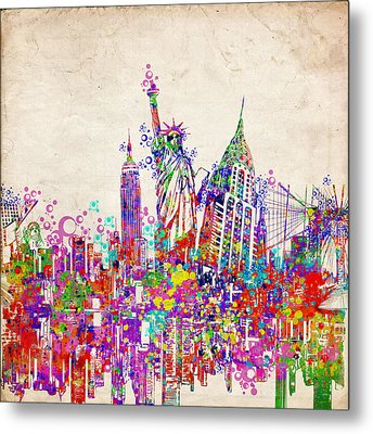 New York City Tribute 2 Metal Print by Bekim Art