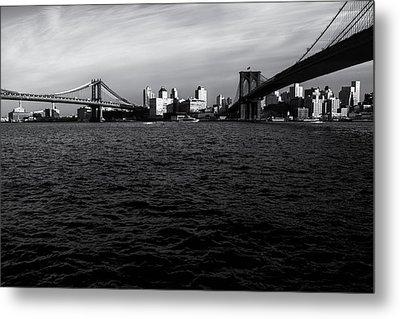 New York City - Two Bridges Metal Print by Vivienne Gucwa