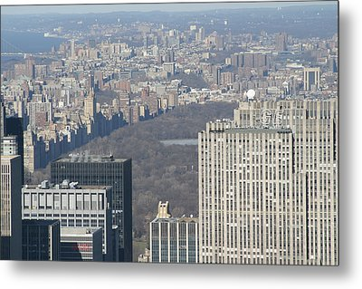 New York City - View From Empire State Building - 121211 Metal Print by DC Photographer