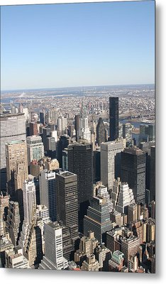 New York City - View From Empire State Building - 121217 Metal Print by DC Photographer