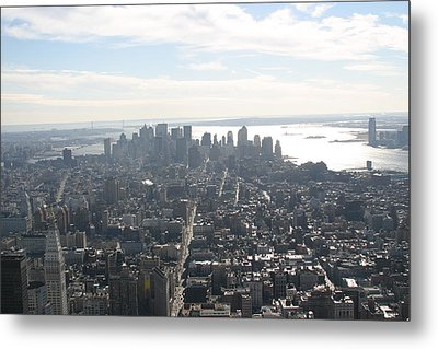 New York City - View From Empire State Building - 121222 Metal Print by DC Photographer