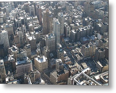 New York City - View From Empire State Building - 121226 Metal Print