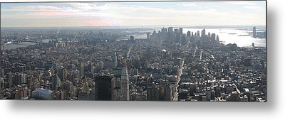 New York City - View From Empire State Building - 121235 Metal Print by DC Photographer