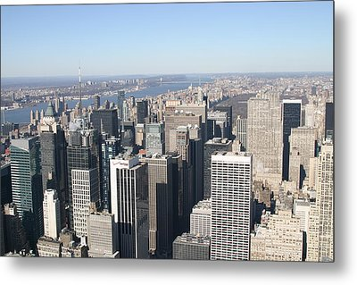 New York City - View From Empire State Building - 12128 Metal Print