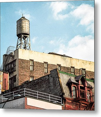 New York City Water Tower 2 Metal Print by Gary Heller