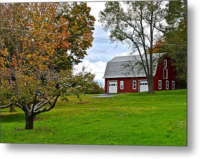 New York Farm Metal Print by Frozen in Time Fine Art Photography