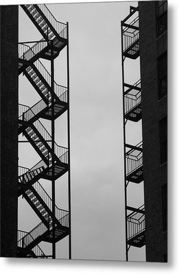 New York Filigree Metal Print
