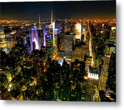 New York - From The Empire State Building 003 Metal Print by Lance Vaughn