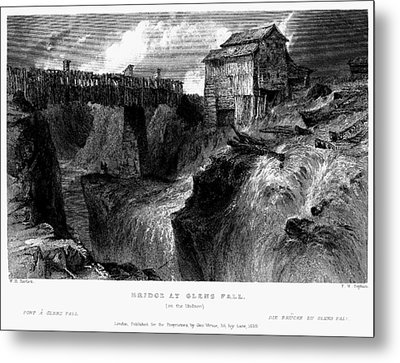 New York Glens Fall, 1839 Metal Print by Granger