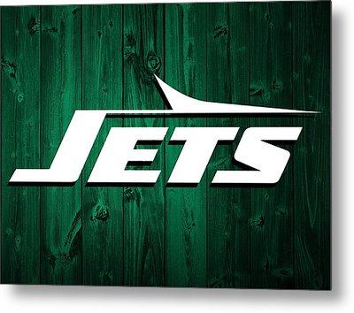 New York Jets Barn Door Metal Print