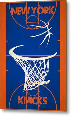 New York Knicks Court Metal Print by Joe Hamilton