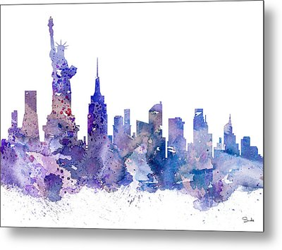 New York Metal Print by Luke and Slavi