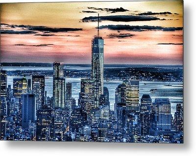 New York - Manhattan Landscape Metal Print by Marianna Mills