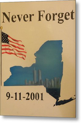 New York Memorial Metal Print by Ricky Haug