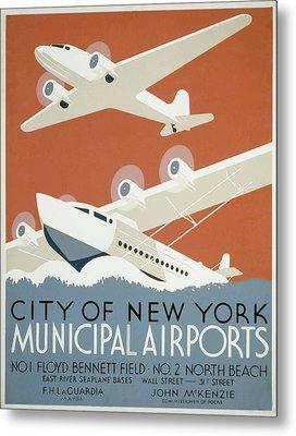 New York Municipal Airport Metal Print
