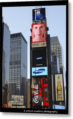 Metal Print featuring the photograph New York New York by B Wayne Mullins
