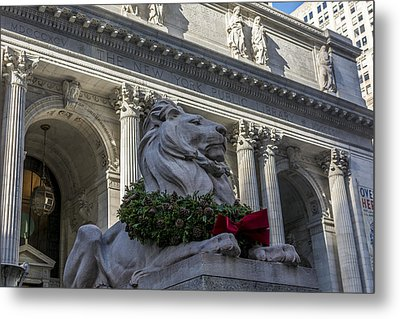 New York Public Library Metal Print by David Morefield