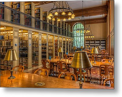 New York Public Library Genealogy Room I Metal Print by Clarence Holmes