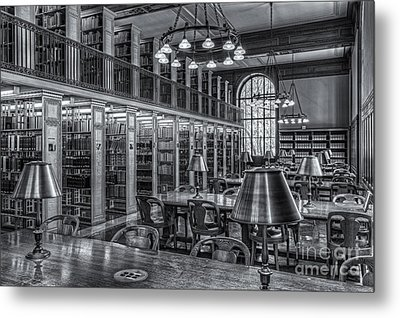 New York Public Library Genealogy Room II Metal Print by Clarence Holmes