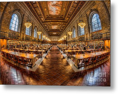 New York Public Library Main Reading Room Vii Metal Print by Clarence Holmes
