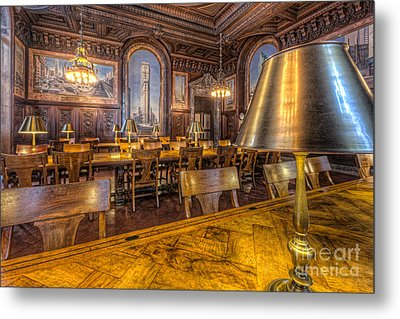 New York Public Library Periodicals Room IIi Metal Print by Clarence Holmes