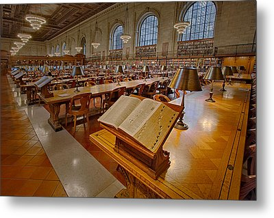 New York Public Library Rose Main Reading Room  Metal Print by Susan Candelario
