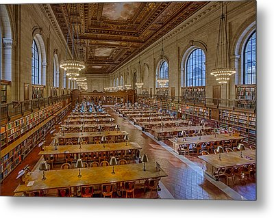 New York Public Library Rose Room  Metal Print by Susan Candelario