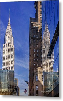 New York Reflections 20 Metal Print by Angela A Stanton